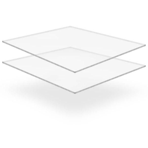 läbipaistev akrüülklaas 2 lehte 40 x 60 cm