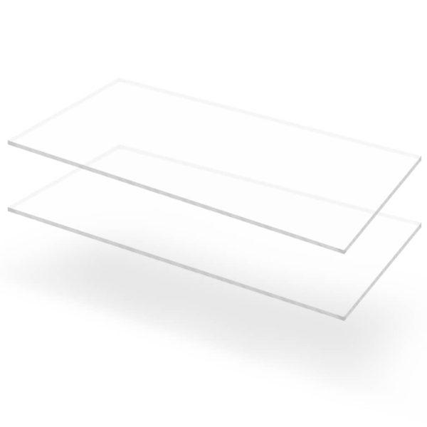 läbipaistev akrüülklaas 2 lehte 60 x 120 cm