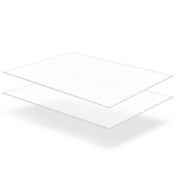 läbipaistev akrüülklaas 2 lehte 60 x 80 cm