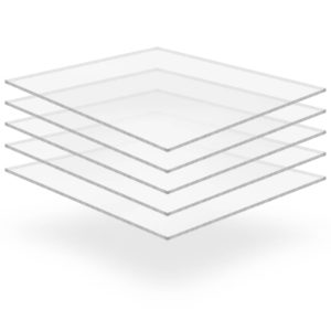 läbipaistev akrüülklaas 5 lehte 40 x 60 cm 5 mm