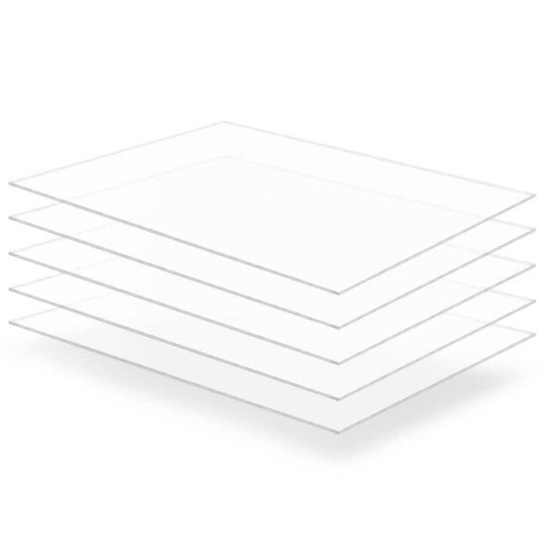 läbipaistev akrüülklaas 5 lehte 60 x 80 cm
