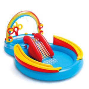 "Intex täispumbatav bassein ""Rainbow Ring Play Center"" 297x193x135 cm"