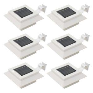 päikesepatareiga aiavalgusti 6 tk LED ruudukujuline 12 cm valge
