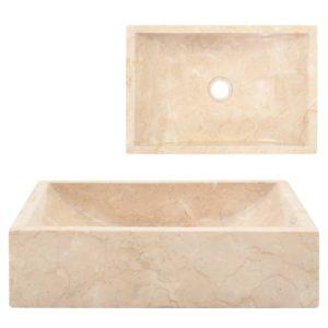 valamu 45 x 30 x 12 cm marmor kreemjas