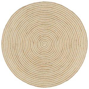 käsitsi valmistatud džuutvaip spiraalmustriga