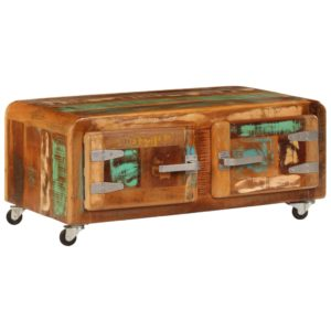 kohvilaud 85 x 55 x 40 cm toekast taastatud puidust
