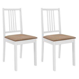 söögitoolid istmepatjadega 2 tk valge