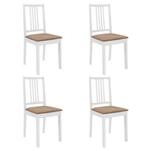 söögitoolid istmepatjadega 4 tk valge