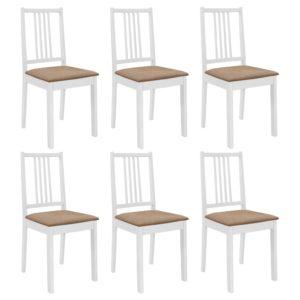 söögitoolid istmepatjadega 6 tk valge