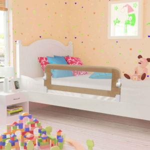 voodipiire väikelapse voodile pruunikashall 120x42 cm polüester