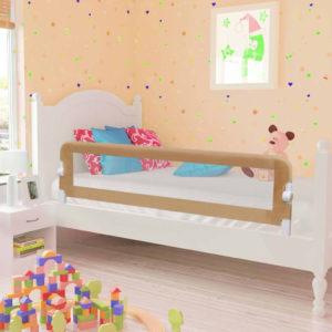 voodipiire väikelapse voodile pruunikashall 150x42 cm polüester