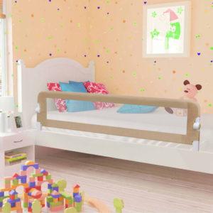 voodipiire väikelapse voodile pruunikashall 180x42 cm polüester