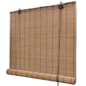 Pruunid bambusrulood 140 x 160 cm