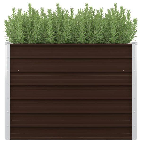 aia taimekast pruun 100 x 40 x 77 cm tsingitud teras
