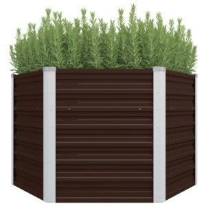 aia taimekast pruun 129 x 129 x 77 cm tsingitud teras