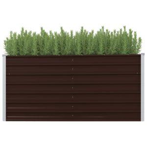 aia taimekast pruun 160 x 40 x 77 cm tsingitud teras