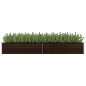 aia taimekast pruun 320 x 80 x 45 cm tsingitud teras