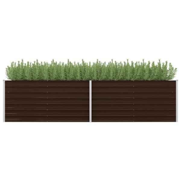 aia taimekast pruun 320 x 80 x 77 cm tsingitud teras