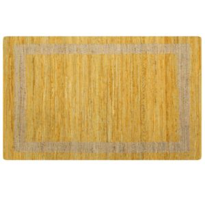 käsitsi valmistatud džuutvaip kollane 80 x 160 cm