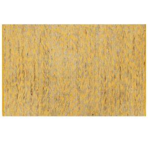 käsitsi valmistatud džuutvaip kollane ja naturaalne 80 x 160 cm