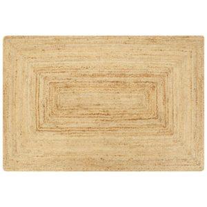käsitsi valmistatud džuutvaip naturaalne 120 x 180 cm