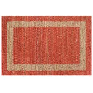 käsitsi valmistatud džuutvaip punane 120 x 180 cm