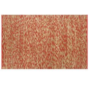 käsitsi valmistatud džuutvaip punane ja naturaalne