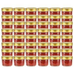 kuldsete kaantega klaasist moosipurgid 48 tk