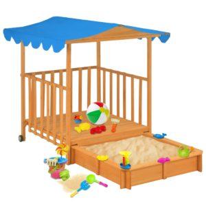 laste mängumaja liivakastiga sinine