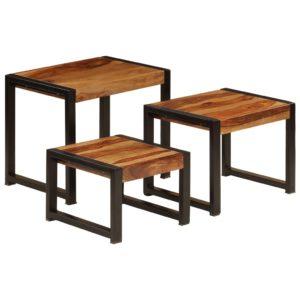 üksteise alla mahtuvate laudade komplekt 3 tk