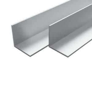 4 tk alumiiniumist nurgalatid L-profiil 1 m 40 x 40 x 2 mm