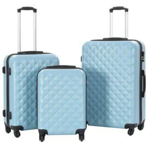 kõvakattega kohver 3 tk sinine ABS