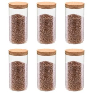 korgist kaanega klaasist säilituspurgid 6 tk