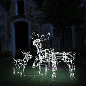 jõulutuled põhjapõtradega 229 LEDiga