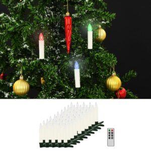 juhtmevabad LED-jõuluküünlad puldiga