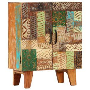 käsitsi nikerdatud puhvetkapp 60x30x75 cm taaskasutatud puit