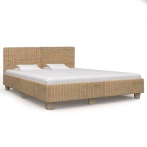 käsitsi põimitud voodiraam ehtne rotang 180 x 200 cm