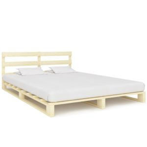 kaubaalustest voodiraam tugevast männipuidust