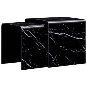 kohvilauad 2 tk must marmorefekt 42x42x41