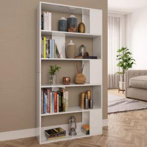 raamaturiiul/ruumijagaja valge 80 x 24 x 159 cm puitlaastplaat