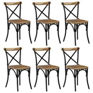 ristikujulise seljatoega toolid 6 tk