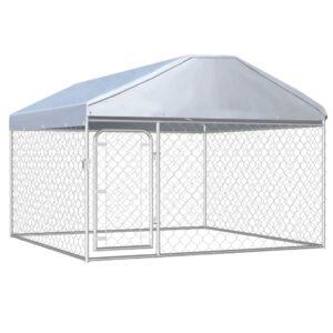 katusega koeraaed 200 x 200 x 135 cm