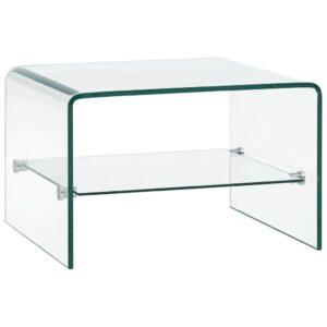 kohvilaud läbipaistev 50 x 45 x 33 cm karastatud klaas