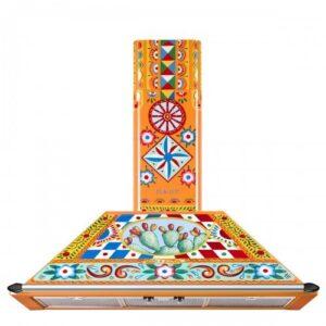 Õhupuhastaja Smeg Victoria, seina, 90 cm, 788 m3/h, 61 dB, Dolce&Gabbana Sicily is my Love Carretto Collection, Smeg