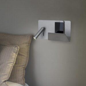 Kohtvalgusti SUAU USB-laadija ja riiuliga