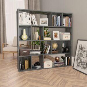 ruumijagaja/raamaturiiul hall 110 x 24 x 110 cm puitlaastplaat
