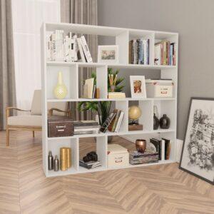 ruumijagaja/raamaturiiul valge 110 x 24 x 110 cm puitlaastplaat