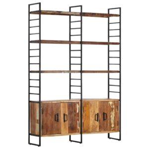 4 riiuliga raamaturiiul 124 x 30 x 180 cm taaskasutatud puit