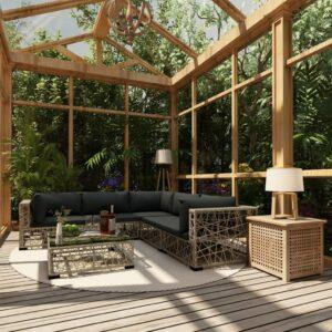 6-osaline aiamööblikomplekt patjadega