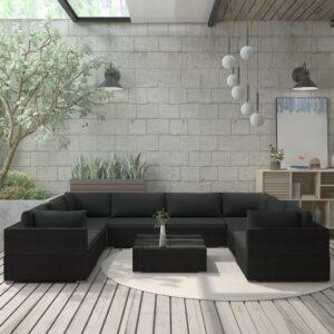9-osaline aiamööblikomplekt patjadega
